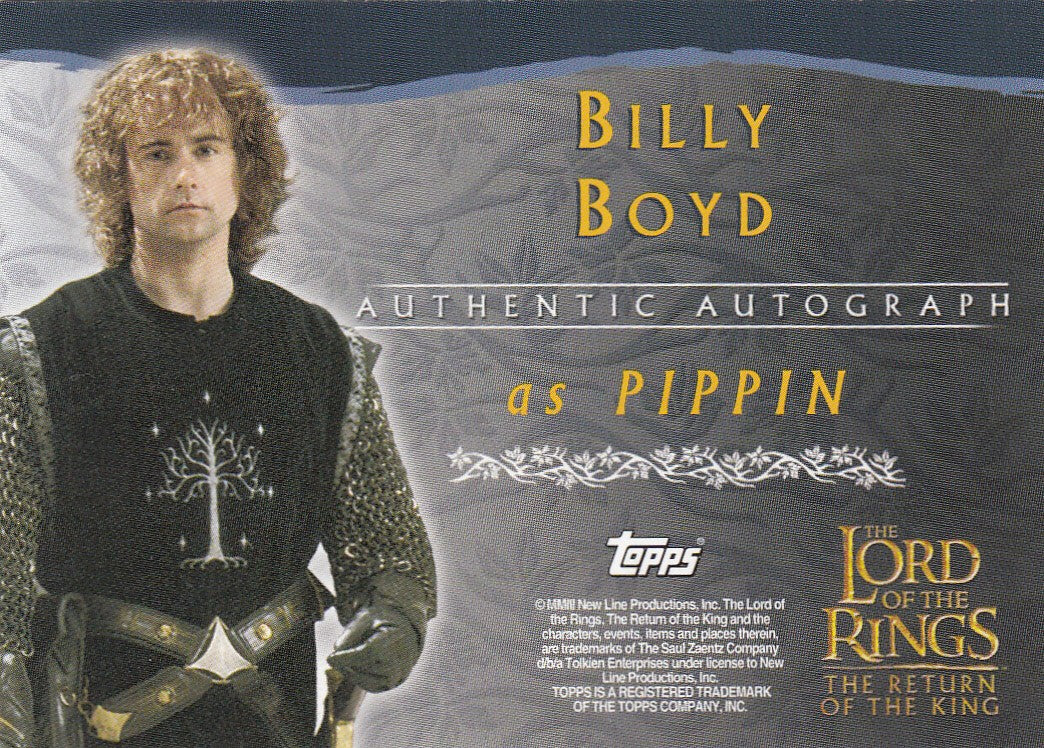 2003 Lord of the Rings Return of the King Autographs - Billy Boyd | Eastridge Sports Cards