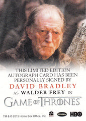 2015 Game of Thrones Season Four Full Bleed Autographs - David Bradley as Walder Frey | Eastridge Sports Cards