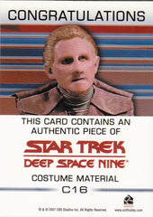 2007 Quotable Star Trek Deep Space Nine Costumes #C16 Security Chief Odo | Eastridge Sports Cards