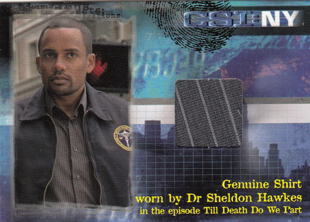 2005 CSI New York Series One Costumes #CSINYS1-C3 - Dr. Sheldon Hawkes /500 | Eastridge Sports Cards