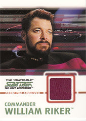2005 Quotable Star Trek The Next Generation From the Archives Costumes #C3 Commander William Riker | Eastridge Sports Cards