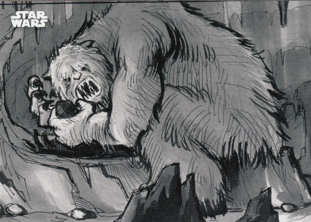 2019 Star Wars Empire Strikes Back Black and White - Concept Art #CA2 - The Fearsome Wampa | Eastridge Sports Cards