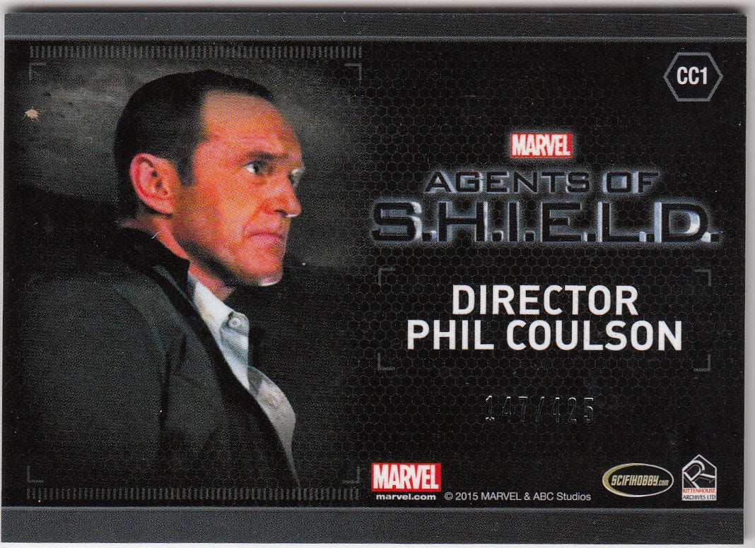 2015 Agents of SHIELD Season 2 Costumes #CC1 Director Phil Coulson #/425 | Eastridge Sports Cards