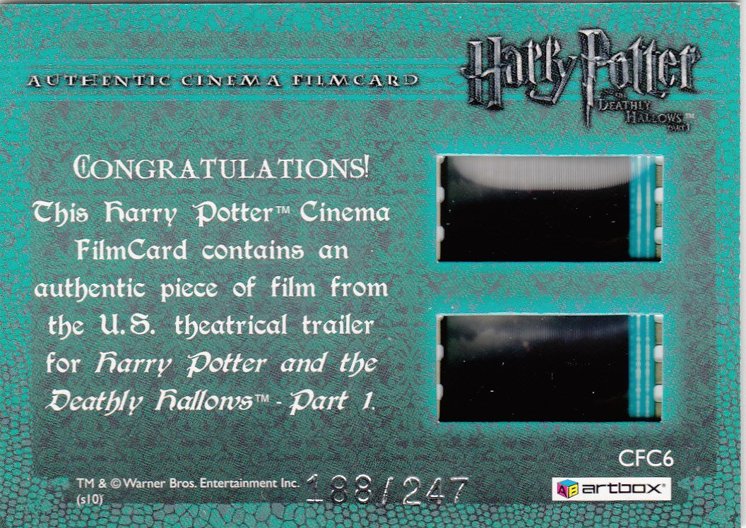 2010 Harry Potter and the Deathly Hallows Part One FilmCards #CFC6 Hermione and Harry #/247 | Eastridge Sports Cards