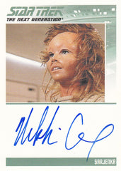 2011 Complete Star Trek The Next Generation Autographs #NNO - Nikki Cox as Sarjenka | Eastridge Sports Cards