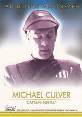 2001 Star Wars Evolution Autographs - Michael Culver - /1000 | Eastridge Sports Cards