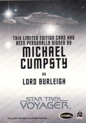 2015 Star Trek Voyager Heroes and Villains Autographs #NNO - Michael Cumpsty as Lord Burleigh | Eastridge Sports Cards