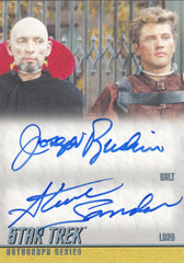 2013 Star Trek The Original Series Heroes and Villains Dual Autographs #DA34 - Joseph Ruskin and Steve Sandor | Eastridge Sports Cards