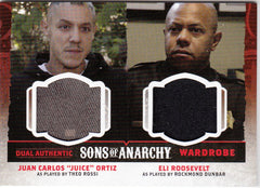 2015 Sons of Anarchy Seasons 4-5 Dual Wardrobes #DW3 Juice Ortiz - Eli Roosevelt | Eastridge Sports Cards