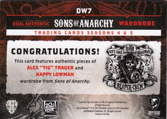 2015 Sons of Anarchy Seasons 4-5 Dual Wardrobes #DW7 Tig Trager - Happy Lohman | Eastridge Sports Cards