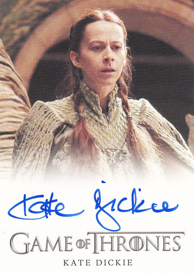 2015 Game of Thrones Season Four Full Bleed Autographs - Kate Dickie as Lysa Arryn | Eastridge Sports Cards