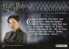 2009 Harry Potter and the Half-Blood Prince Update Autographs - Frank Dillane as Tom Riddle SP | Eastridge Sports Cards