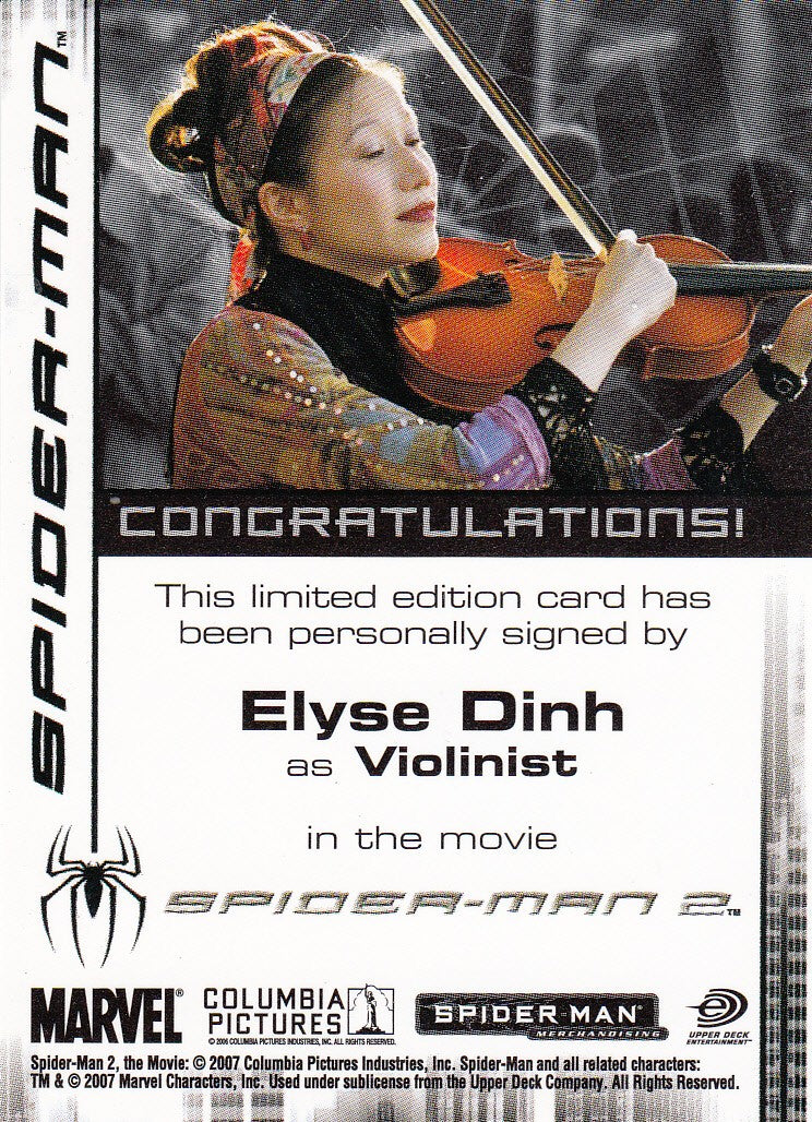 2007 Spider-Man 3 Autographs - Elyse Dinh | Eastridge Sports Cards