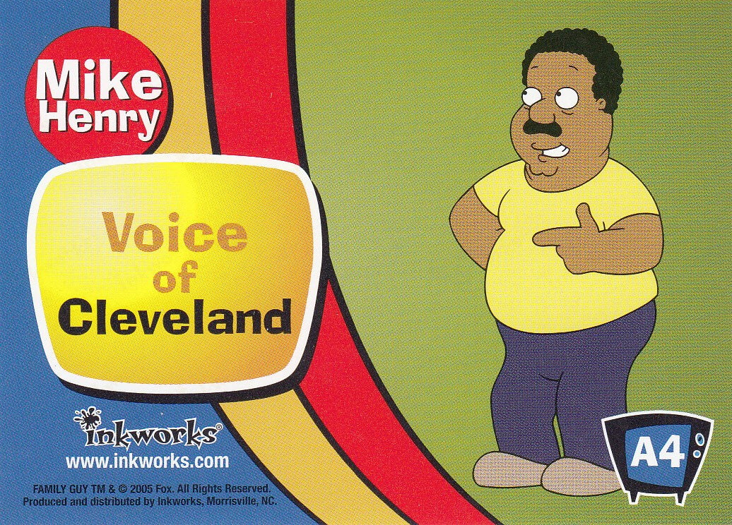 2005 Family Guy Season One Autographs #A4 - Mike Henry as Cleveland | Eastridge Sports Cards