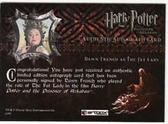 2004 Harry Potter and the Prisoner of Azkaban Update Autographs - Dawn French as The Fat Lady | Eastridge Sports Cards