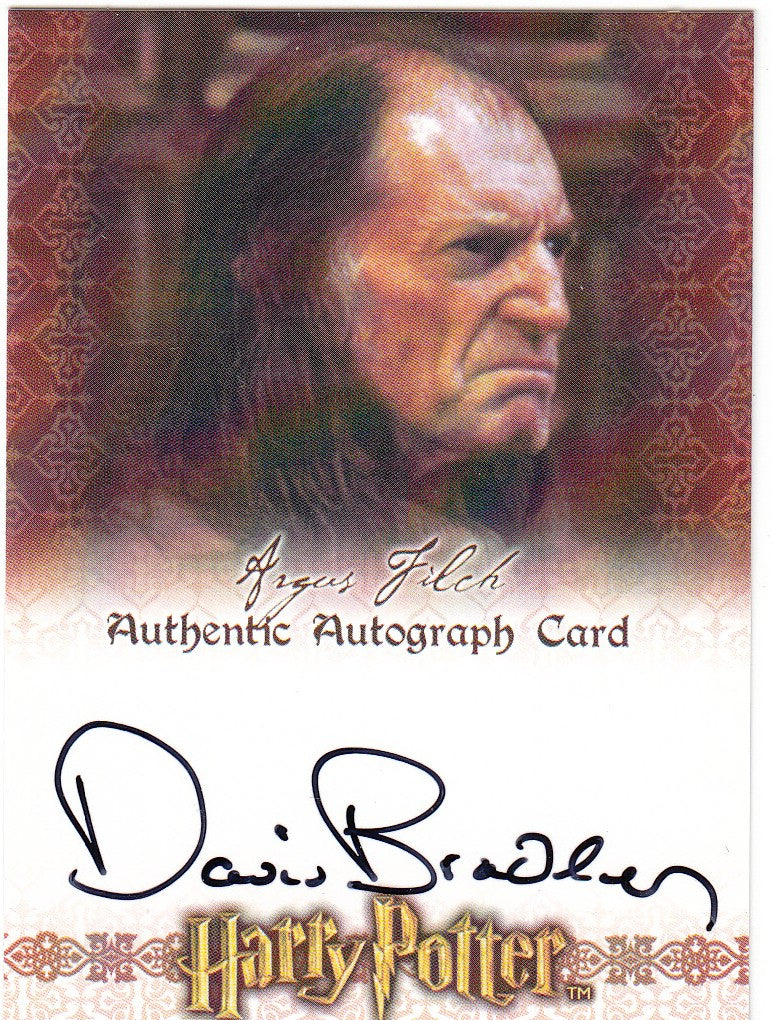2007 World of Harry Potter 3-D Autographs - David Bradley as Argus Filch | Eastridge Sports Cards