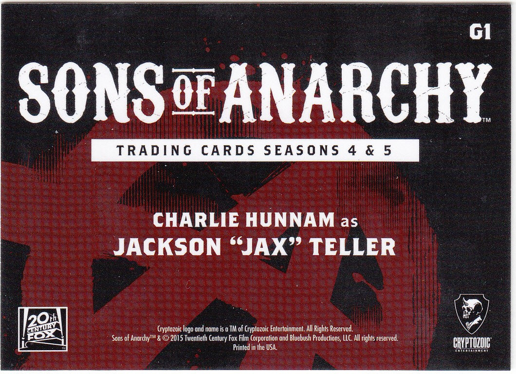 "2015 Sons of Anarchy Seasons 4-5 Gallery #G1 - Charlie Hunnam as Jackson ""Jax"" Teller 