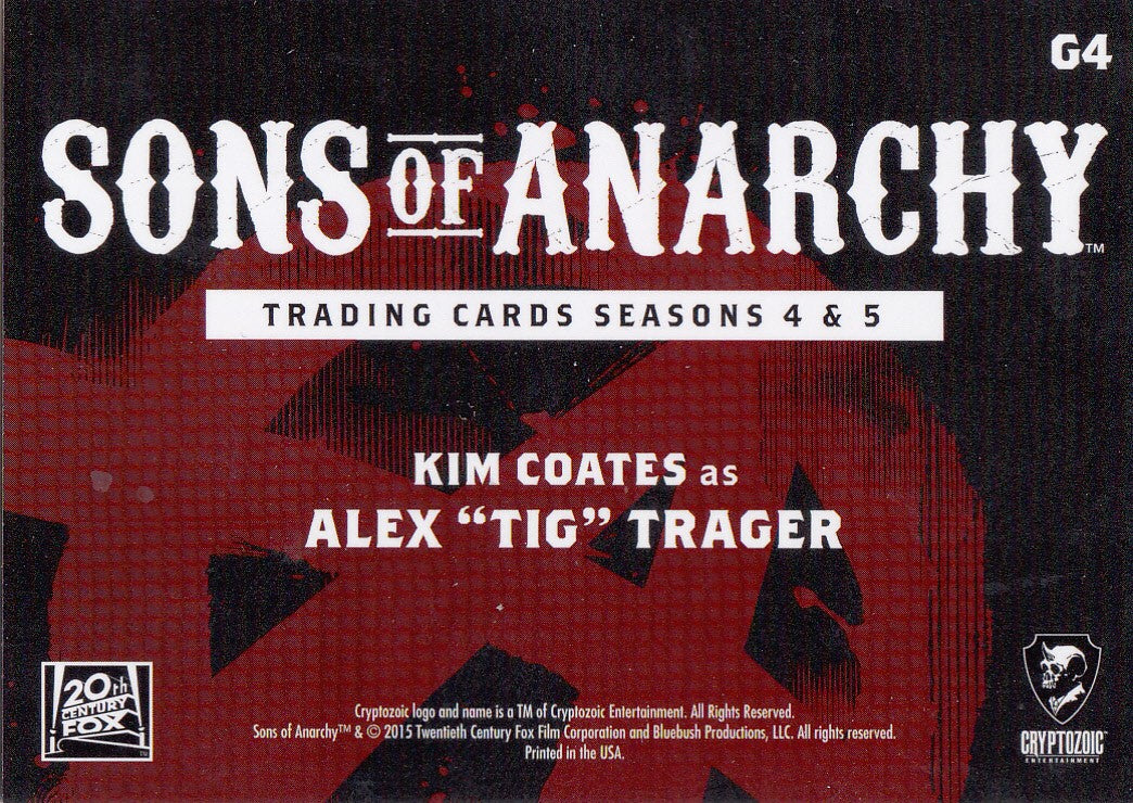 "2015 Sons of Anarchy Seasons 4-5 Gallery #G4 - Kim Coates as Alex ""Tig"" Trager 