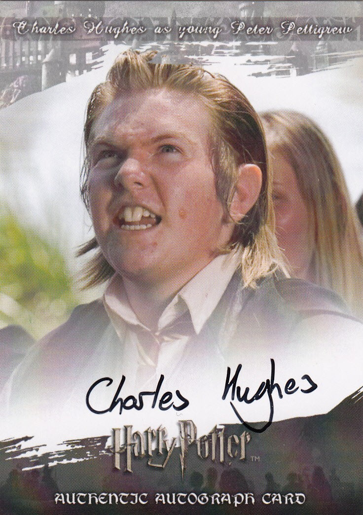2008 World of Harry Potter 3-D Series Two Autographs - Charles Hughes as Young Peter Pettigrew | Eastridge Sports Cards