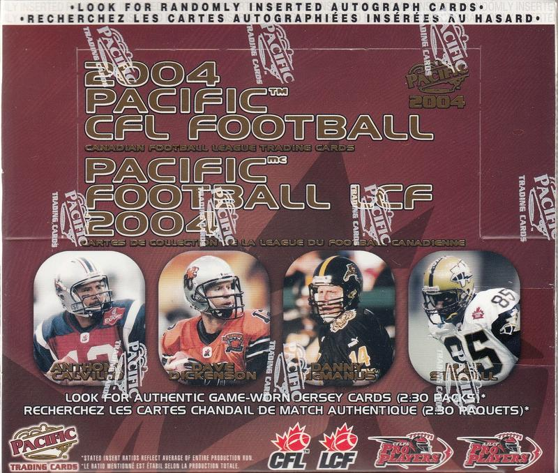 2004 Pacific CFL Football Hobby Box | Eastridge Sports Cards