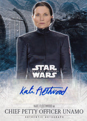 2016 Star Wars The Force Awakens Series Two Autographs - Kate Fleetwood as CPO Unamo | Eastridge Sports Cards