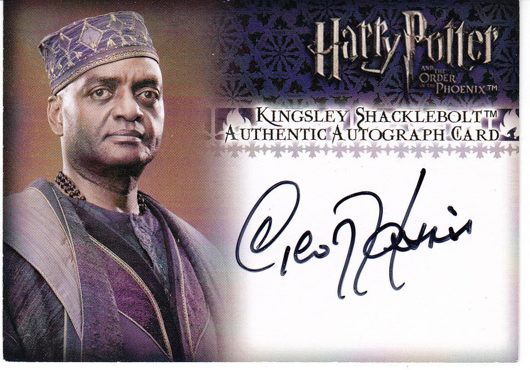 2007 Harry Potter and the Order of the Phoenix Autographs - George Harris as Kingsley Shacklebolt | Eastridge Sports Cards