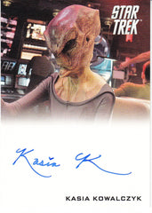 2014 Star Trek Movies Autographs #NNO - Kasia Kowalczyk as Kelvin Alien | Eastridge Sports Cards