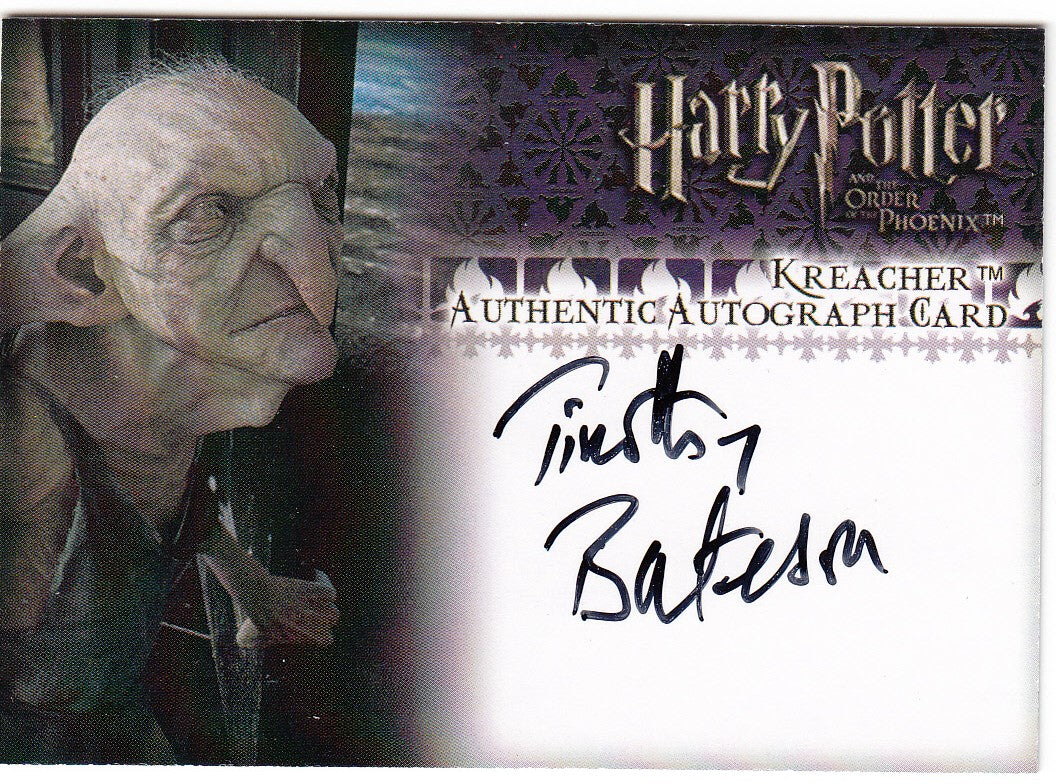 2007 Harry Potter and the Order of the Phoenix Update Autographs - Timothy Bateson as Kreacher | Eastridge Sports Cards