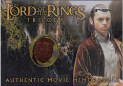 2004 Lord of the Rings Trilogy Chrome Memorabilia #NNO - Elrond's Rivendell Robe | Eastridge Sports Cards
