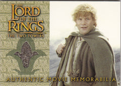 2003 Lord of the Rings Two Towers Update Memorabilia #NNO - Sam's Travel Jacket | Eastridge Sports Cards