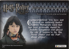 2009 Harry Potter and the Half-Blood Prince Update Autographs - Isabella Laughland as Leanne | Eastridge Sports Cards