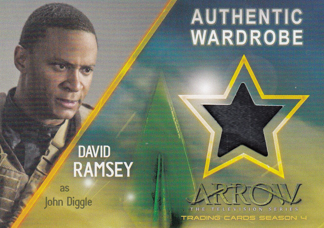 2017 Arrow Season Four Wardrobe #M03 - David Ramsey as John Diggle | Eastridge Sports Cards