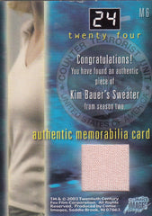 2003 24 Seasons One and Two Costumes #M6 Kim Bauer - Sweater | Eastridge Sports Cards