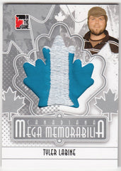 2011 In The Game Canadiana Mega Memorabilia Silver #MM26 Tyler Labine - 165 produced | Eastridge Sports Cards