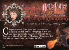 2006 Harry Potter and the Goblet of Fire Update Autographs - Frances de la Tour as Madame Maxine | Eastridge Sports Cards