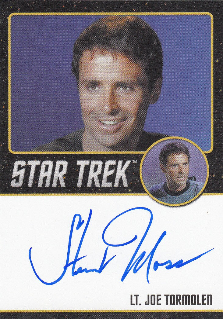 2016 Star Trek The Original Series 50th Anniversary Black Autographs #NNO - Stewart Moss as Lt. Joe Tormolen | Eastridge Sports Cards