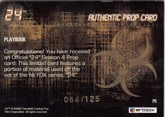 2006 24 Season Four Props #P6 Playbook #/125 | Eastridge Sports Cards