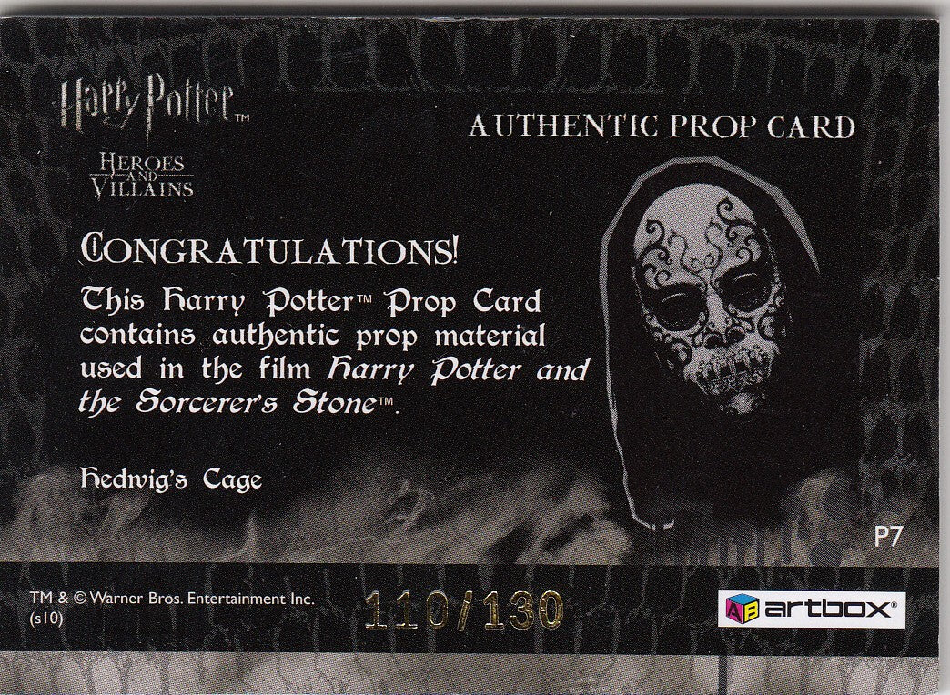 2010 Harry Potter Heroes and Villains Props #P7 Hedwig's Cage #/130 | Eastridge Sports Cards