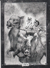 2019 Star Wars Empire Strikes Back Black and White - Posters #PO-9 - Atop the Tauntaun | Eastridge Sports Cards