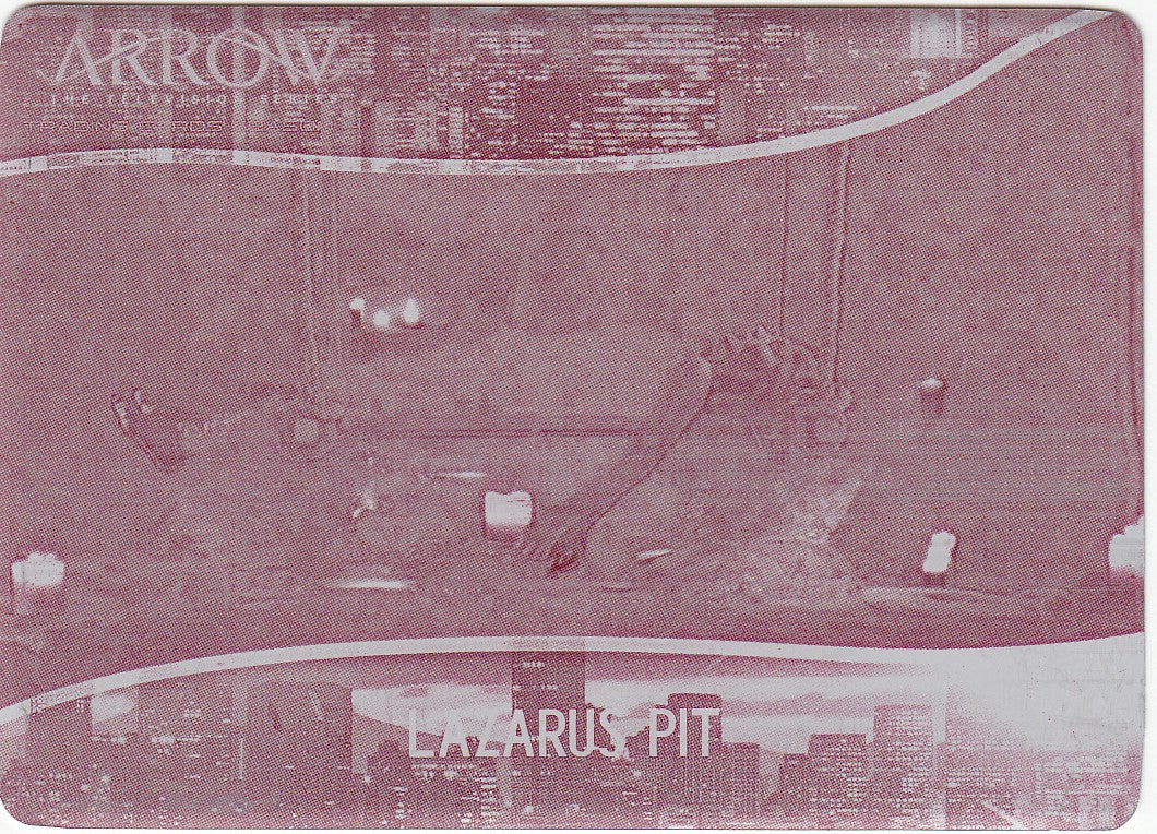 2017 Arrow Season Four Locations Printing Plates Magenta #L04 - Lazarus Pit 1/1 | Eastridge Sports Cards
