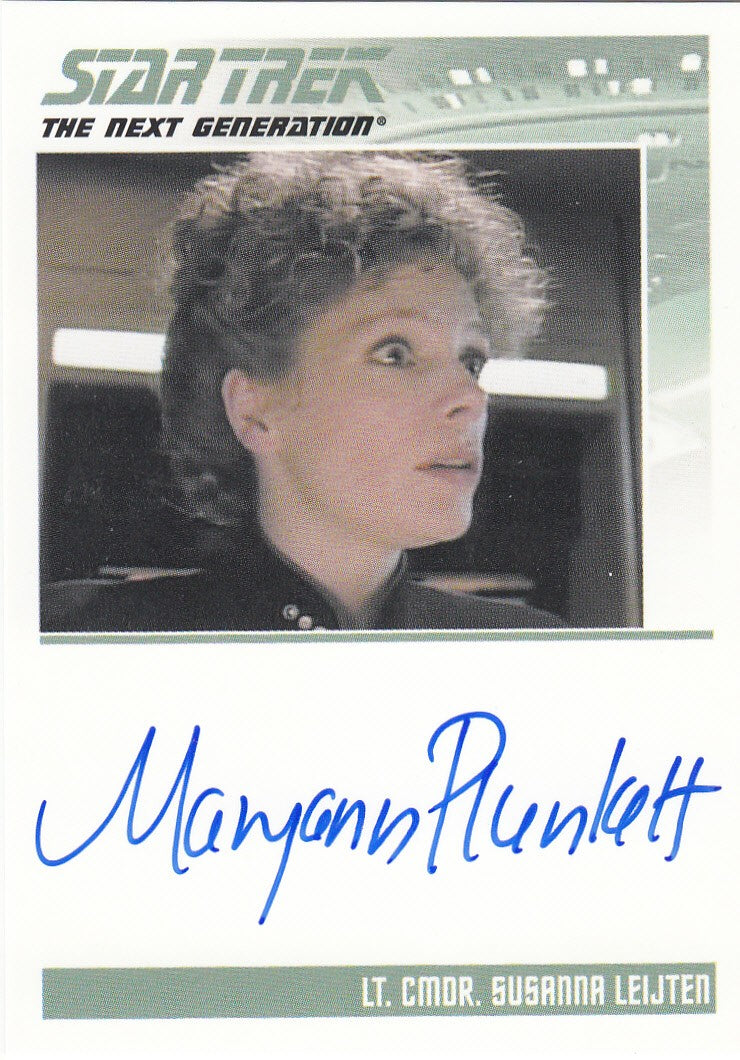 2013 Star Trek The Next Generation Heroes and Villains Autographs #NNO - Maryann Plunkett as Lt. Commander Leijten | Eastridge Sports Cards