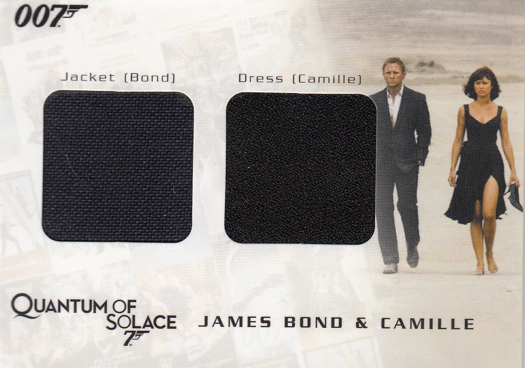 2009 James Bond Archives Relics #QC02 James Bond & Camille Jacket - Dress #/875 | Eastridge Sports Cards
