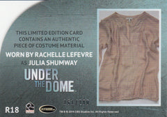2014 Under the Dome Season One Relics #R18 Julia Shumway #/200 | Eastridge Sports Cards