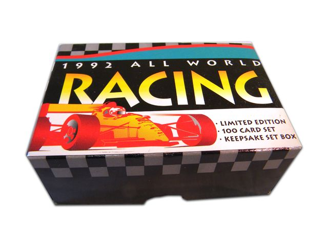1992 ALL WORLD RACING TRADING CARD FACTORY SET | Eastridge Sports Cards