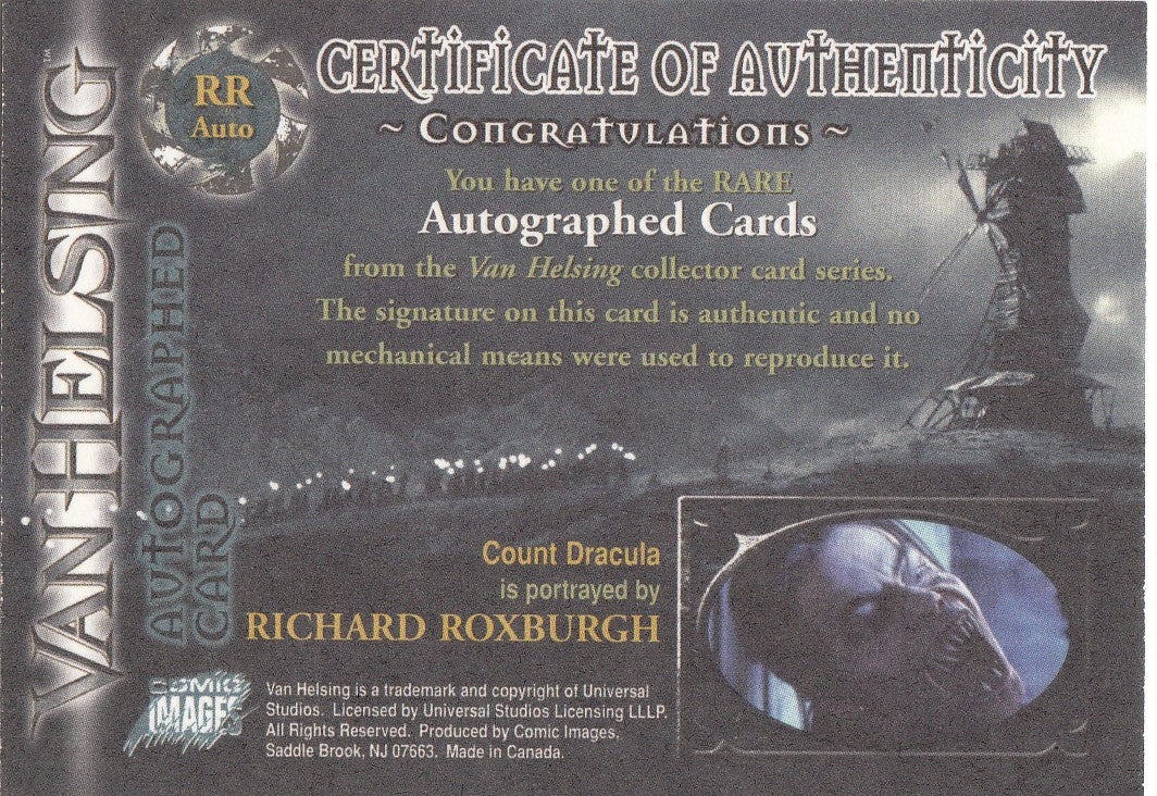 2004 Van Helsing Autographs #RR - Richard Roxburgh as Dracula | Eastridge Sports Cards