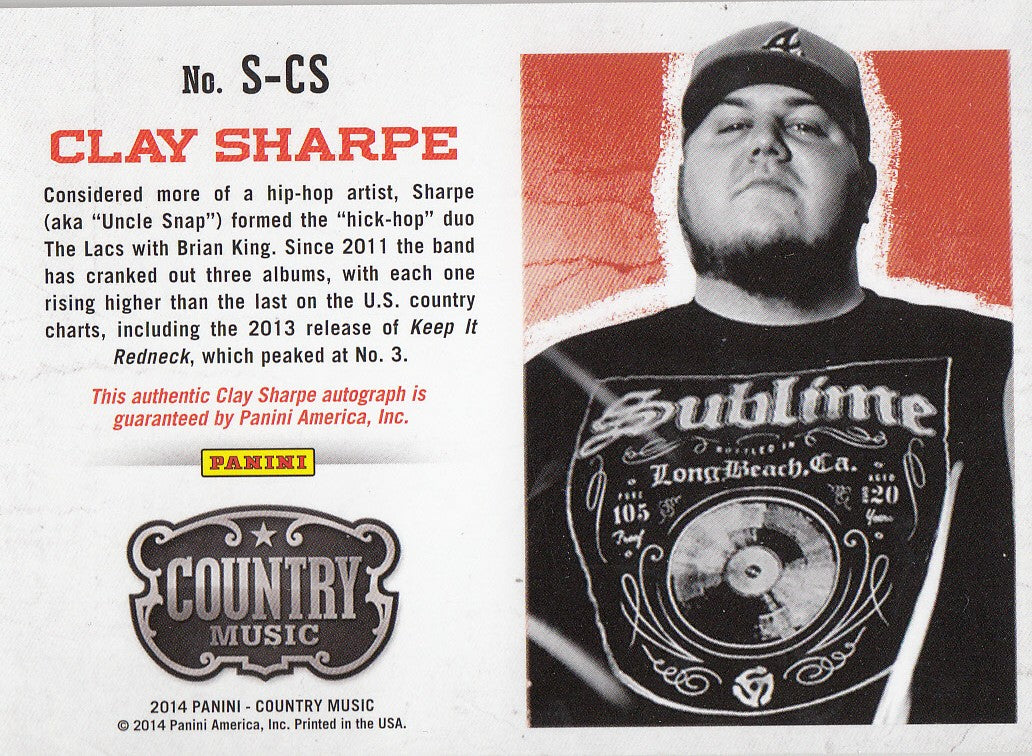 2015 Country Music Signatures #S-CS - Clay Sharpe #/394 | Eastridge Sports Cards