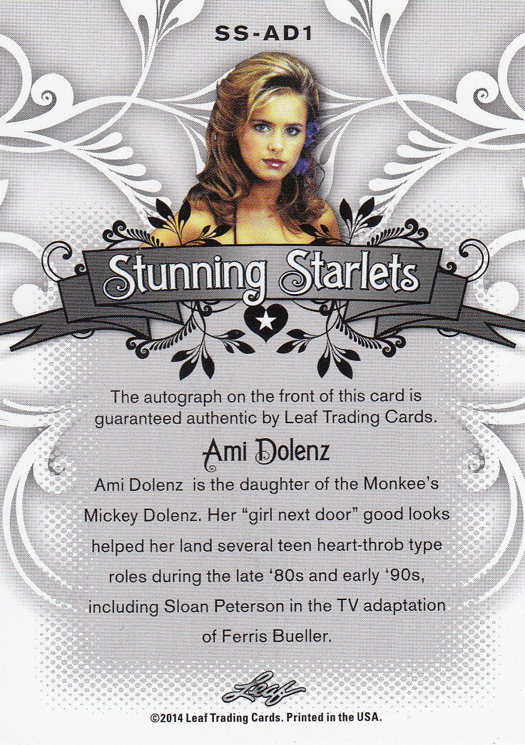 2014 Pop Century Stunning Starlets Autographs Blue #SS-AD1 - Ami Dolenz #/10 | Eastridge Sports Cards