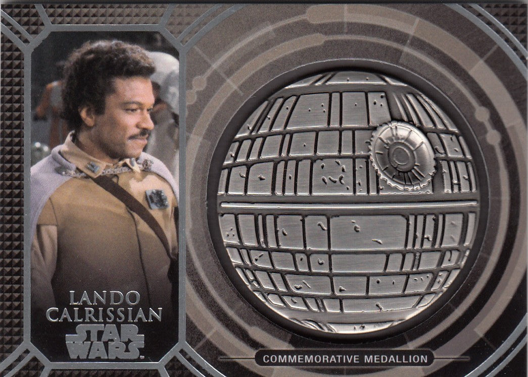 2017 Star Wars 40th Anniversary Medallions #18 Lando Calrissian | Eastridge Sports Cards
