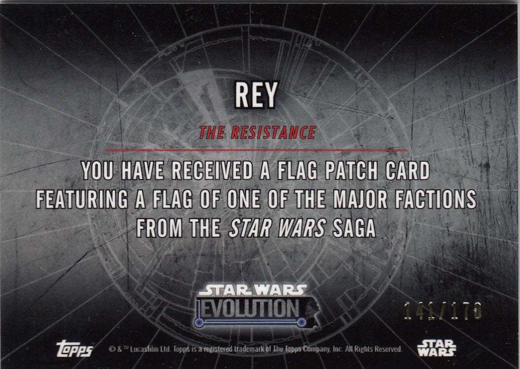 2016 Star Wars Evolution Patches #NNO - Rey #/170 | Eastridge Sports Cards