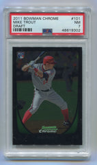 2011 Bowman Chrome Draft #101 Mike Trout PSA 7 (Rookie) | Eastridge Sports Cards